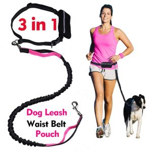 LANNEY Hands-Free Dog Leash with Dual-Handle for Running, Training, Walking Hiking