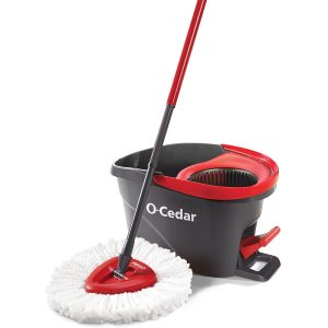 O-Cedar EasyWring Microfiber Spin Mop with Bucket Cleaning system