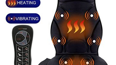 Relief Expert Vibrating Car Seat, 10-Motor Back Massager