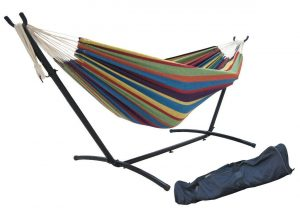 SueSport Double Hammock with Steel Stand, Carrying Case