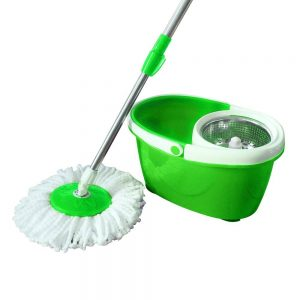 Valuebox 360° Spin Bucket System Mop Telescopic Rod and 2 Microfiber Mop Heads