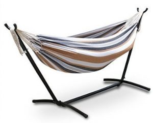 ZENY Double Hammock 9-Feet with Space-Saving Steel Stand
