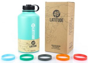 45 Degree Latitude Beer Growler, Enjoy Your Favorite Craft Beer Or IPA From The Comfort Of Your Own Home, Stainless Steel Growler 64 oz