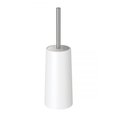 Homemaxs Toilet Brush and Holder Modern Design Longer Brush