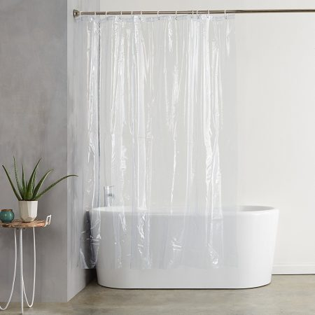 AmazonBasics Heavy-weight transparent Shower Curtain Liner