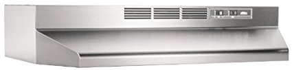Broan 413604 ADA Capable Non-Ducted Under-Cabinet Range Hood, 36-Inch, Stainless Steel