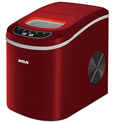 Compact Ice Maker, Red