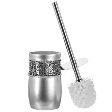 Creative Scents Bathroom Toilet Brush Set - Brushed Nickel Collection
