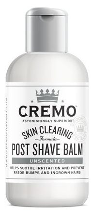 Cremo Unscented Post Shave Balm with Skin Clearing Formula