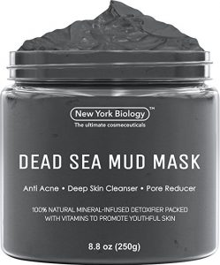 Dead Sea Mud Mask for Face & Body - 100% Natural Spa Quality - Best Pore Reducer & Minimizer to Help Treat Acne, Blackheads & Oily Skin – Tightens Skin for a Visibly Healthier Complexion – 8.8 OZ