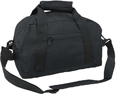 "DuffleDALIX 14"" Small Bag Two Toned Gym Travel Bag"