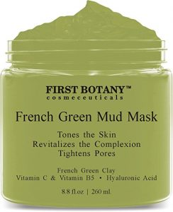 French Green Mud Mask 8.8 Fl Oz for men and women - an anti-aging face mask