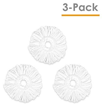 Hapinnex Microfiber Mop Heads- 3x Microfiber Cloth Head Replacements