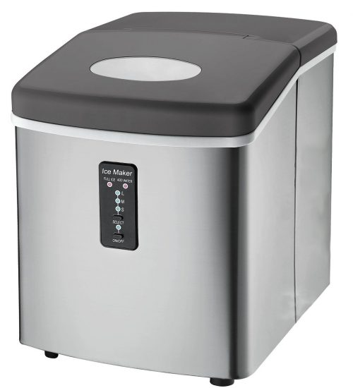 Ice Machine - Portable, Counter Top Ice Maker Machine TG22 - Produces 26 lbs Of Ice Per 24 Hours - Stainless Steel - Top Rated Ice Maker For Countertop use By ThinkGizmos