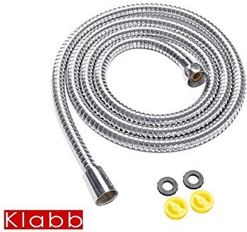 Klabb Shower Hose, 60 inches Extra Long Chrome shower hose