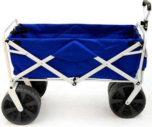 Mac Sports Heavy Duty Collapsible Folding All Terrain Utility Beach Wagon Cart