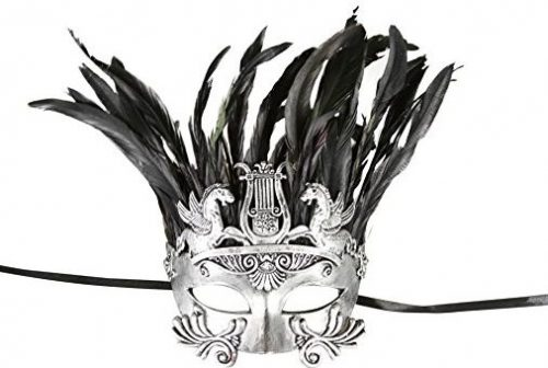 Men's Mythological Silver/black Hercules with Feather