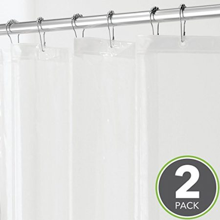 MetroDecor MDesign Heavy Duty PEVA Shower Curtain Liner
