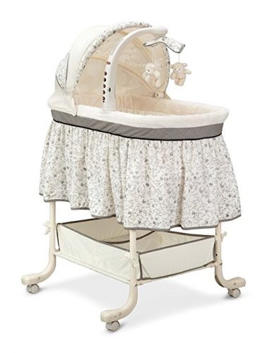 Simmons Kids Deluxe Gliding Bassinet, Slumber Time