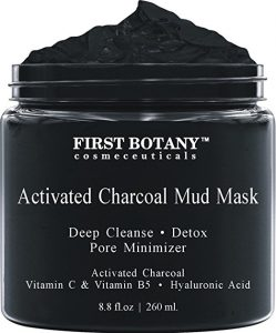 ctivated Charcoal Mud Mask 8.8 fl oz. - For Deep Cleansing & Exfoliation, Pore Minimizer & Reduces Wrinkles, Acne Scars, Blackhead Remover & Anti Cellulite Treatment, Face Mask & Facial Cleanser
