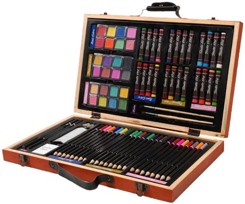Darice 80-Piece Deluxe Art Set for Drawing, Painting