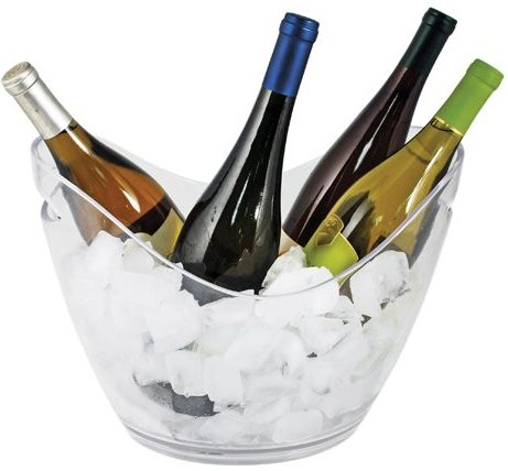 True Décor 4 Bottle Swiss Modern Transparent Ice Bucket