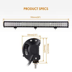 Auxbeam LED Light Bar 30 Inch LED Bar 198W Combo 66pcs 3W CREE Driving Light Waterproof