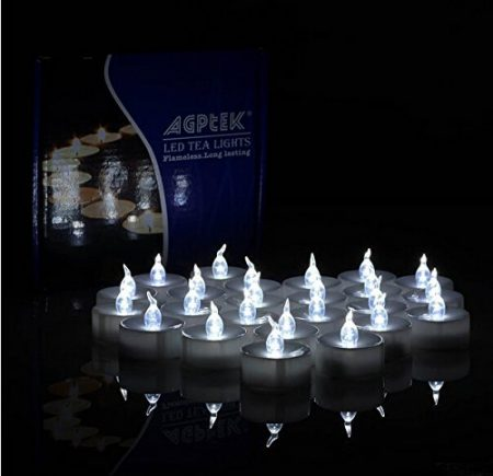 AGPtek 24 Piece LED Flameless Tealight Candles