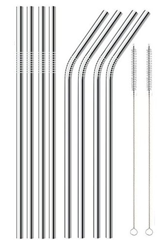 Alotpower Ultra-long Drinking Metal Straws