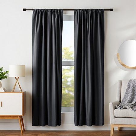AmazonBasics Room Darkening Blackout Curtain Set