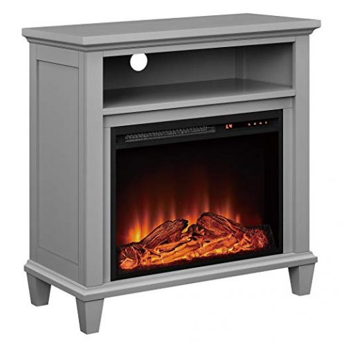 Ameriwood Home Ellington Electric Fireplace Accent Table TV Stand for TVs up