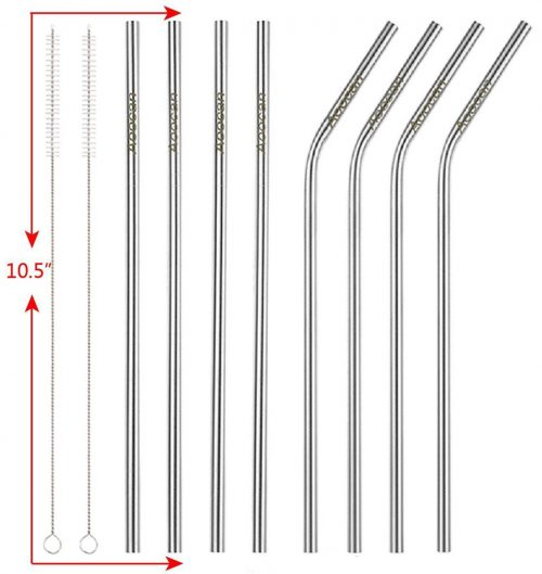 Aoocan eight pack Stainless Steel Straws