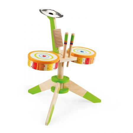 Award-winning Hape Rock and Rhythm Kids Wooden Drum Set