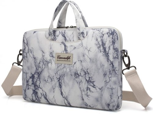 Canvaslife Waterproof Laptop Shoulder Messenger Bag Case Sleeve, Marble pattern