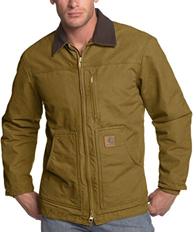 Carhartt Men's Ridge Coat Sherpa Lined Sandstone C61