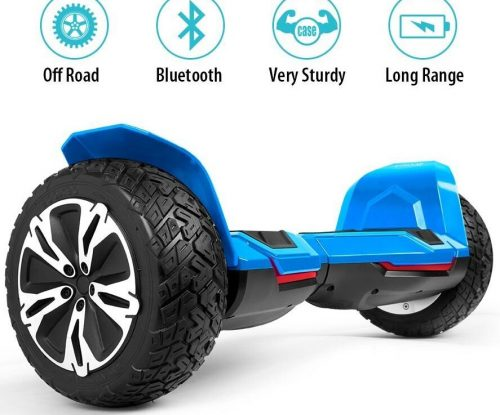 Gyroor Warrior 8.5 inch All Terrain OFF ROAD Hoverboard with Bluetooth Speakers and LED Lights