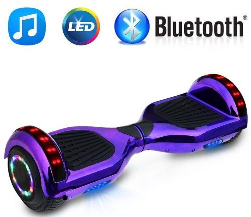 NHT 6.5 inch Chrome Hoverboard Electric Smart Self- Balancing Scooter, with Bluetooth Speaker