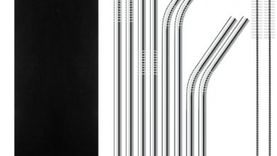 SENHAI Set of 8 Stainless Steel Straws