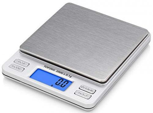 Smart Weigh Digital Pro Pocket Scale with Back-Lit LCD Display, Silver