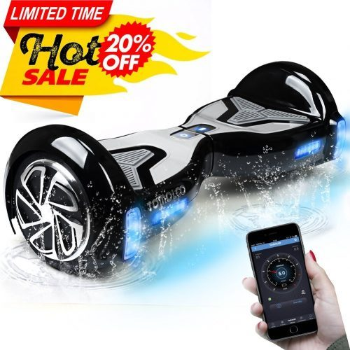 TOMOLOO Self-Balancing Hoverboard UL -2272 Certified 6.5- inch Wheel Hoverboard with RGB Lights