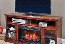 Walker Cherry Electric Fireplace Entertainment Center - 25MM5326-C245