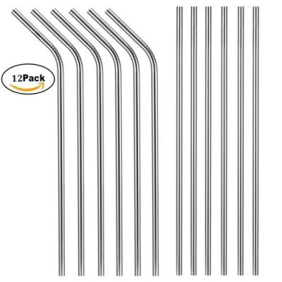 X-CHEF 10.5 Inch Stainless Steel Straws