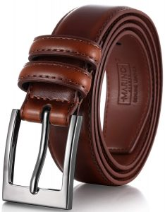 Marino's Men Genuine Leather Dress Belt