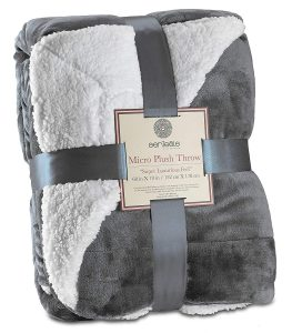 Genteele Sherpa Throw Blanket Super Soft Reversible Ultra Luxurious Plush Blanket