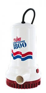 Rule A53 Series 1800 GPH Submersible Sump : Utility Pump, Corded, 110 Volt AC