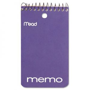 Mead Memo Book Spiral 3 In. X 5 In. pack of 24