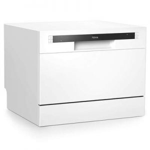 hOmeLabs Compact Countertop Dishwasher - Portable Mini Dish Washer in Stainless Steel Interior