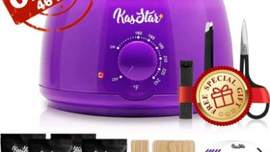 Professional Wax Warmer - KasStar Waxing Kit Hair Removal for Rapid Waxing of All Body with 4 Scents Hard Wax Beans 30 Wax Applicator Spatula Sticks