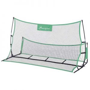 Soozier 2 in 1 Soccer Rebounder Net Portable Football Trainer Passing and Solo Skills