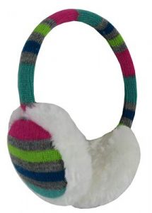 10. N'Ice Caps Girls Faux Fur Winter Earmuff with Knitted Colorful Design
